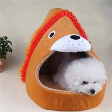 Funny tiger lion Pet Dog cat Beds house For Small Yorkshire Warm dog puppy Sofa bed Cushion Animal Shape dog nest sleeping bag