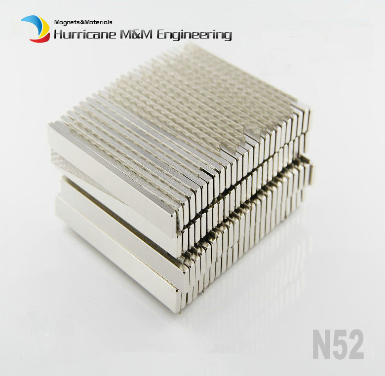 10 pcs/lot N52 NdFeB Block 80 x 8 3 mm Long Bar Strong Neodymium Permanent Magnets Rare Earth Industry Magnet