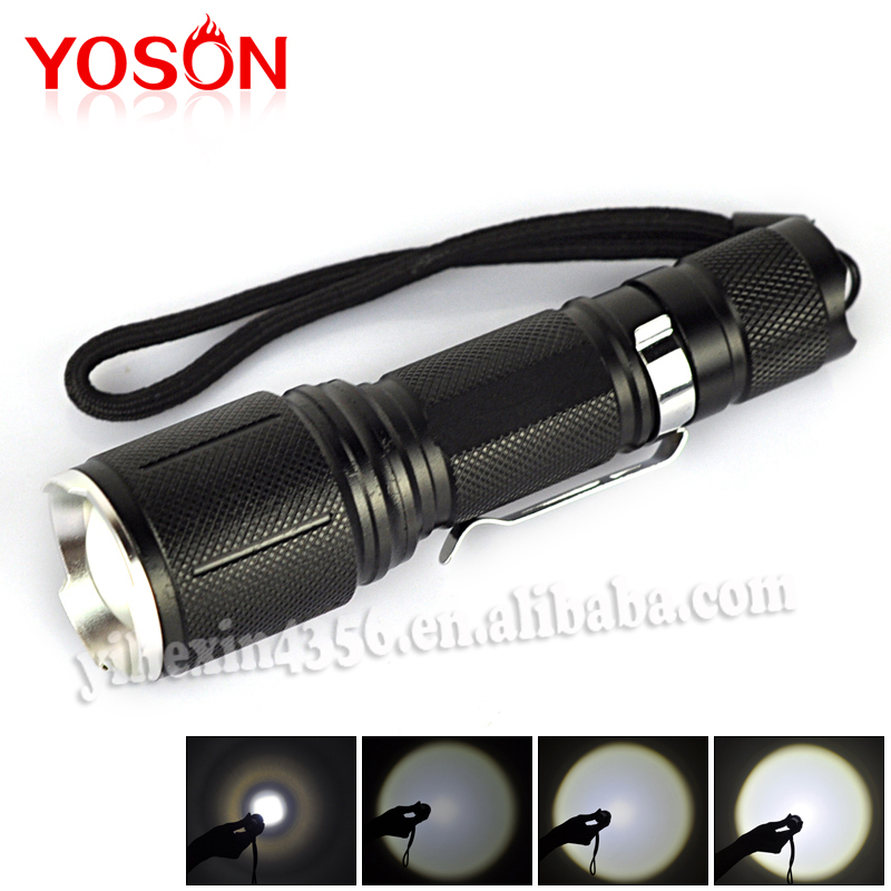 BORUIT Top Quality 605 CREE XM-L T6 LED Waterproof 5-Mode Outdoor Lighting Zoomable Flashlight Torch<br><br>Aliexpress