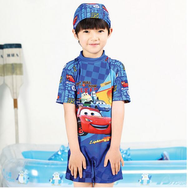 Плавательный костюм для мальчиков Child boy rash guards uv protection 2/9 one-piece surfing clothes