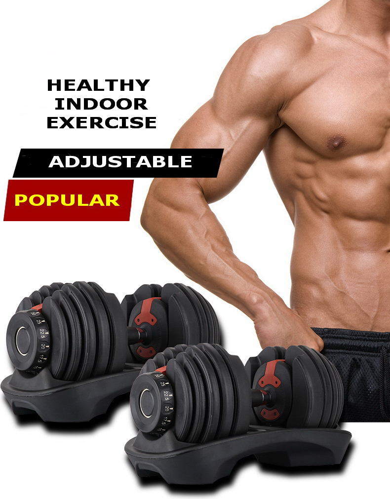free shipping high quality 15 different weight adjustable dumbbell weight with coating (pair)