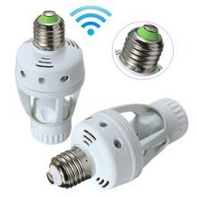 Migliore promozione ac 110 v infrared pir sensore di movimento led e27 lampadina interruttore base della lampada titolare convertitore adattatore(China (Mainland))