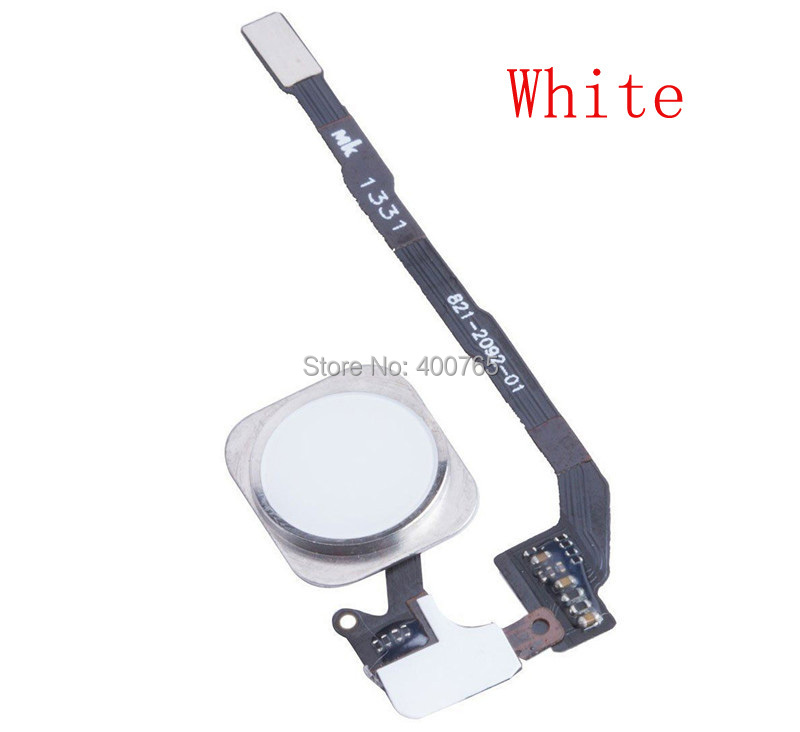 (05S505W)(1PC/Lot) Free Shipping 100% High Quality Guarantee White Touch ID Sensor Home Button Flex Cable Ribbon for iPhone 5S