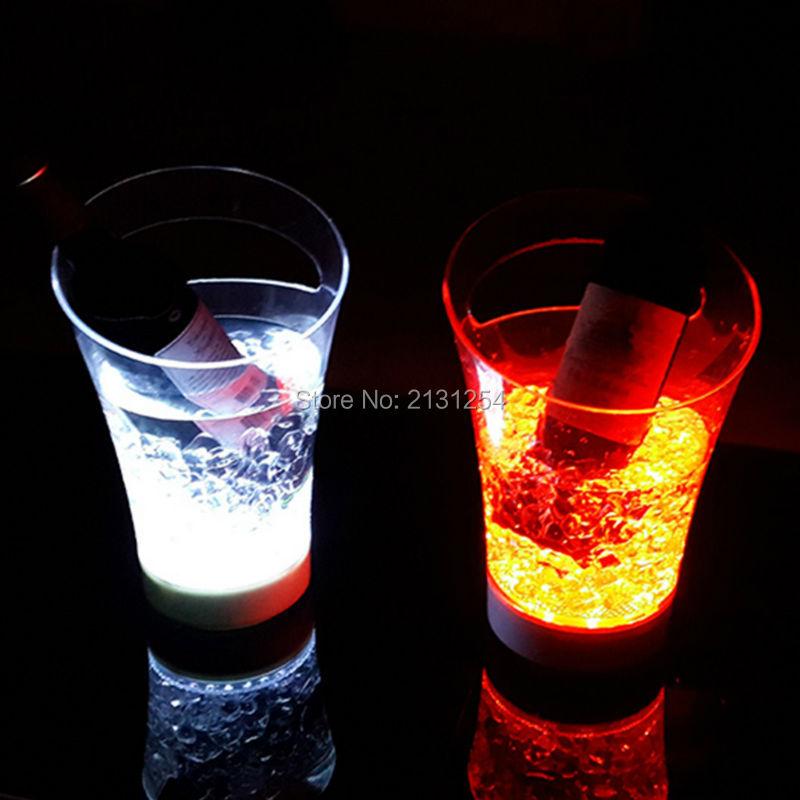 Fashion led light bar champagne whiskey ice bucket creative decorative acrylic charging portable light emitting red wine barrels(China (Mainland))