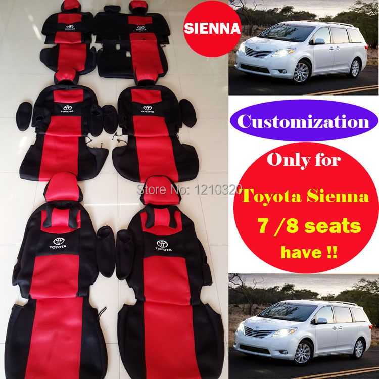 Customization for toyota sienna car seat cover set Sandwich car covers accessories seat cushion 7or 8 seats protection car seat(China (Mainland))
