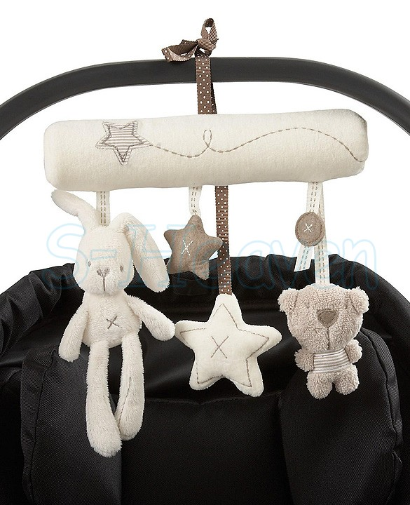 2014 new Hot Sell mamas&papas cot hanging toy baby rattle toy soft plush rabbit musical mobile products 35(China (Mainland))
