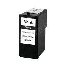 1Pk Black  Inkjet Ink Cartridge For Lexmark 32 For Lexmark X7350 X5450 X5210 X5470 X7170 Z810 Z815 Printer