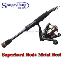 Sougayilang 2014 New Arrived Ultra Light More Size Collocation Surf Casting Fishing Rod Reel Telescopic Carbon Fishing Rod