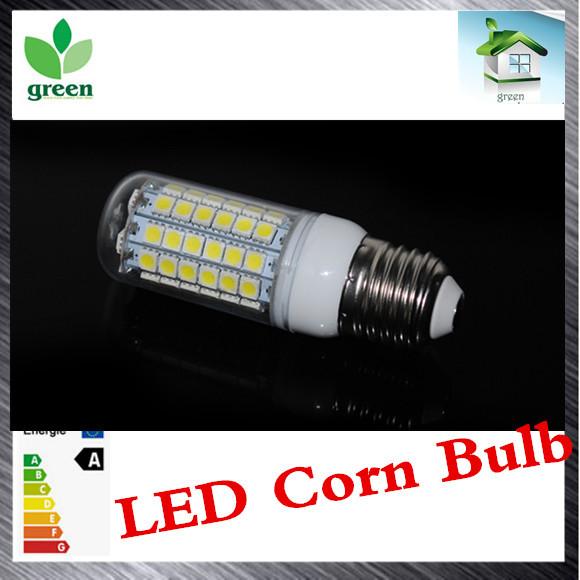 1pcs 15W LED Corn Bulb lamps Ultra Bright SMD 5050 E27 AC 200V 240V lamp 69leds Pendant light Chandelier lustres(China (Mainland))