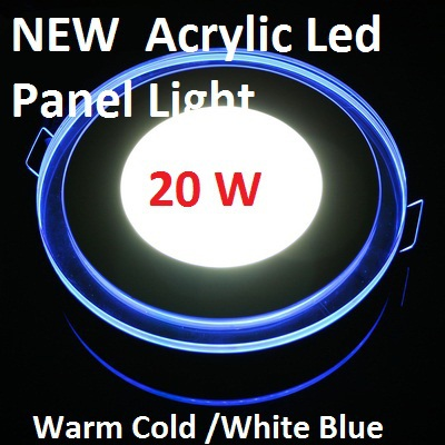 10W 15W 20W Round Acrylic Led Ceiling Panel Light Lamp Bulb Downlight Warm Cold White Blue For Home Living Room Indoor Lighting(China (Mainland))
