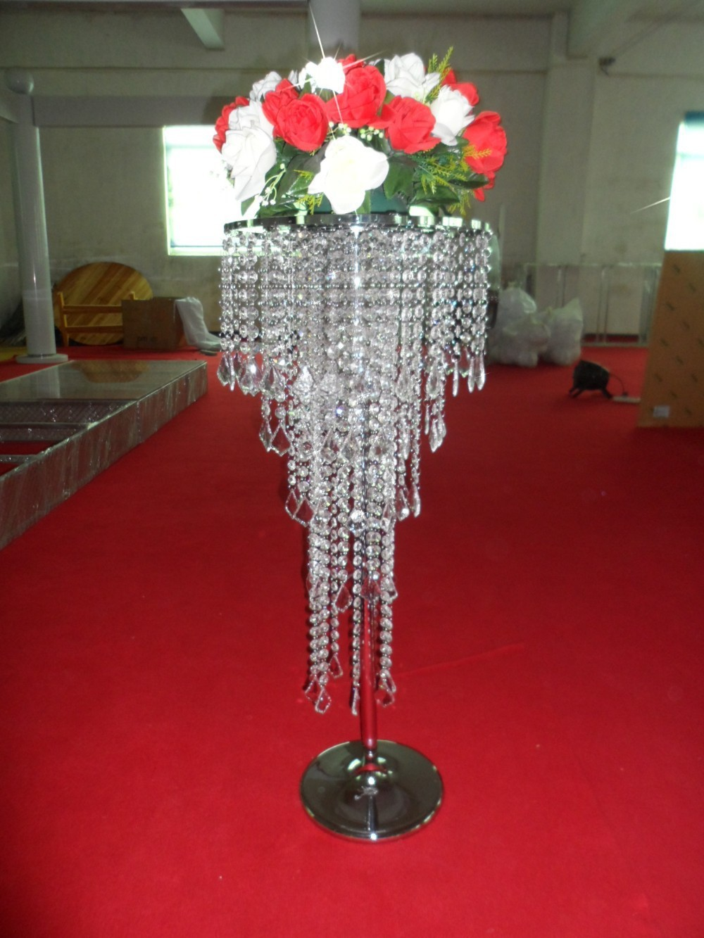 Free shipping acrylic crystal wedding centerpiece for Crystal home decorations