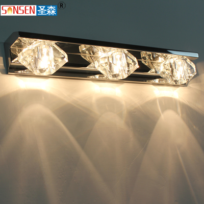 Led high quality stainless steel crystal mirror light bathroom guanchong lighting fitting modern ss8608(China (Mainland))