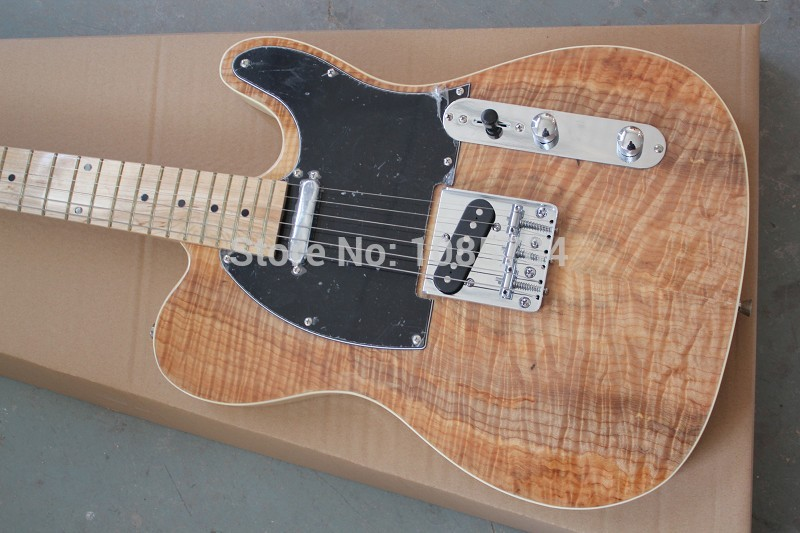 Free shipping wholsale NEW guitarra TL guitarra/with maple flame top clear color oem electric guitar/guitar in china(China (Mainland))
