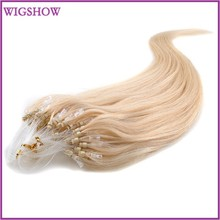 Micro Loop Ring Links Remy Straight Human Hair Extensions 100strands 4# 1B, 1, 2, 6, 8, 12, 24,27, 30, 60, 613 18/20/22 inches(China (Mainland))