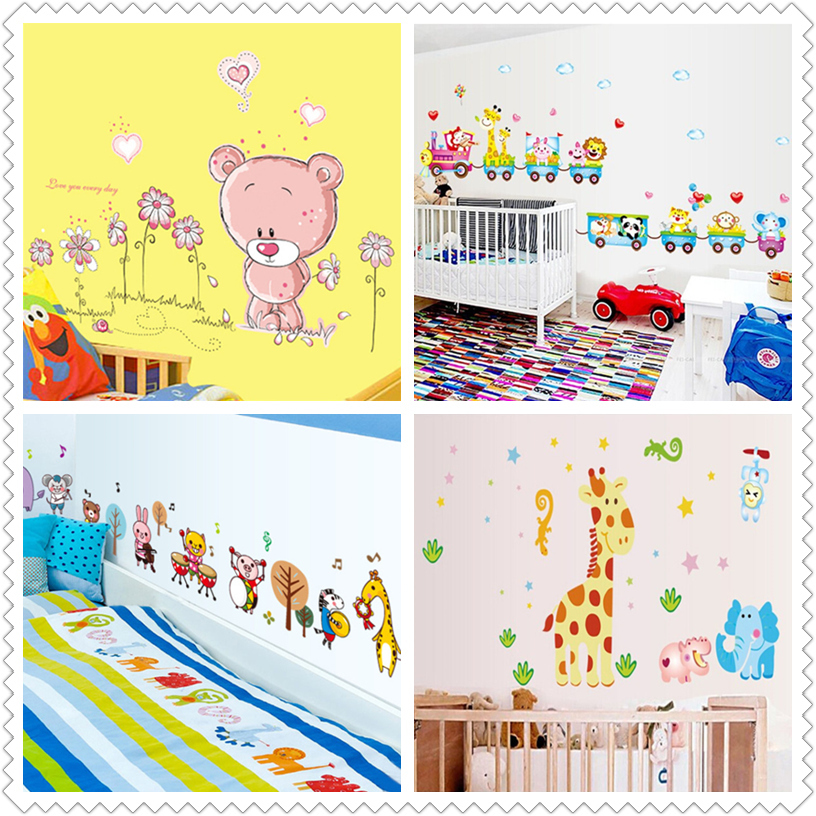 Animals wall sticker child role of children's diy adhesive art mural poster picture removable wallpaper baby room(China (Mainland))