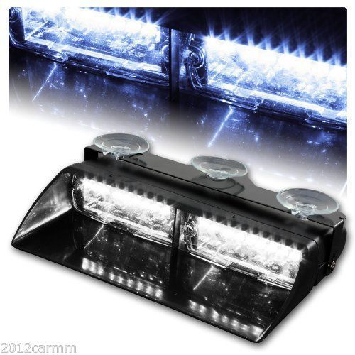 Яркий 16 из светодиодов высокой интенсивности авто лобовое стекло аварийного предупреждающих огней вспышка света DC12V - белый