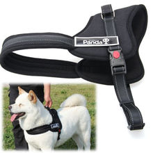 Adjustable Soft Padded Non Pull Pet Dog Harness Chest Vest Walking S M L XL Collar Products For Mascotas Cotton Nylon PS015-24(China (Mainland))