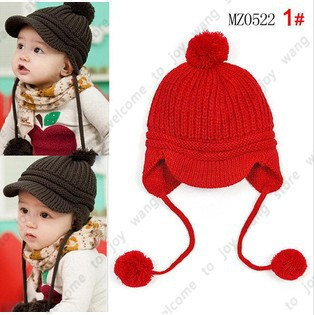 New 2015 Autumn The Children's Caps Fashion Warm Knitted Wool Baby Boys Beanie Children's Winter Hats Hot Selling Girls Hat--01