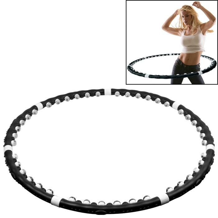 Removable Magnetic Massage Fitness Hula Hoop Plastic Abdominal Massage Hula Hoops Weight Loss Equipment(China (Mainland))