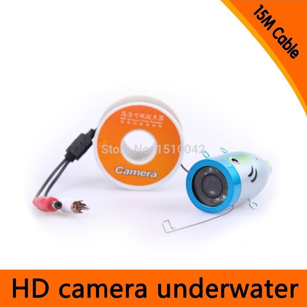 15M Cable Underwater fishing Camera 12pcs LED WHITE LIGHTS 700 TVL Rated DC 12V Power Hotsales Model CR-006L15m(China (Mainland))