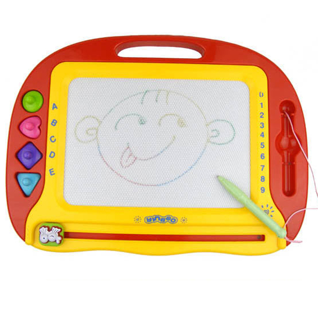 838aa-2 multicolour magnetic writing board 4 stamp yakuchinone early learning toy 1 - 3 years old