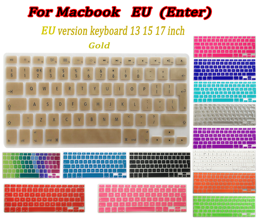 14 Colour EU Silicone keyboard cover for Apple macbook Air Pro Retina 13 15 17 Protective Stickers for macbook laptop Skin Film(China (Mainland))