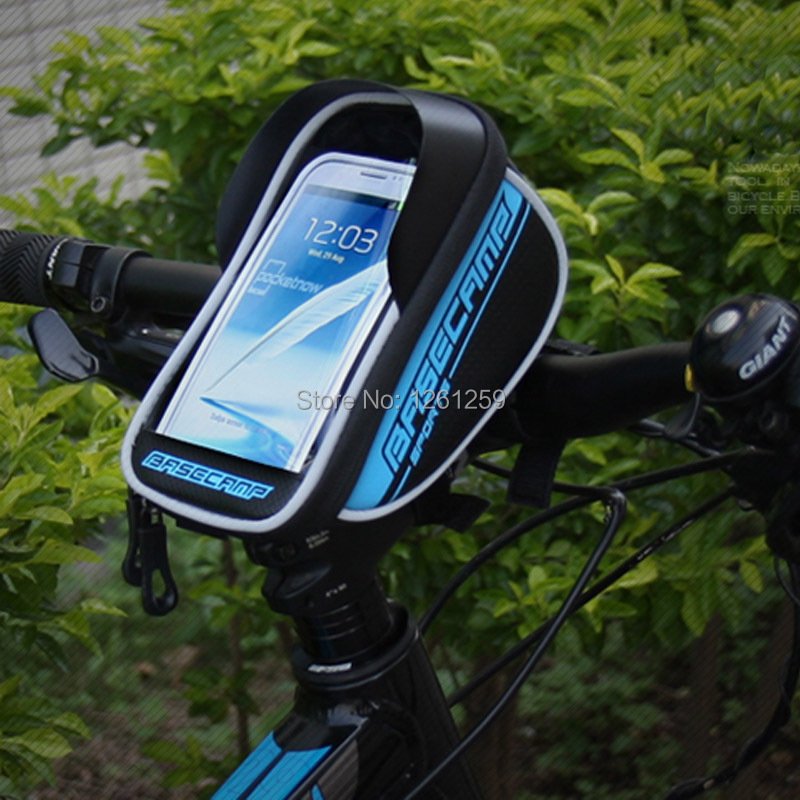 "2015 Waterproof Mountain Road MTB Bike Bicycle Front Top Frame Handlebar Bag Cycling Pouch for 4-5.5"" inch Cellphone Phone Case(China (Mainland))"