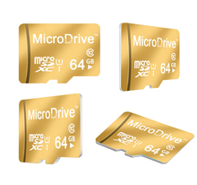 Certified 100% Real capacity Gold 8GB 16GB 32GB 64GB micro sd card 64GB class 10 flash card memory card(China (Mainland))