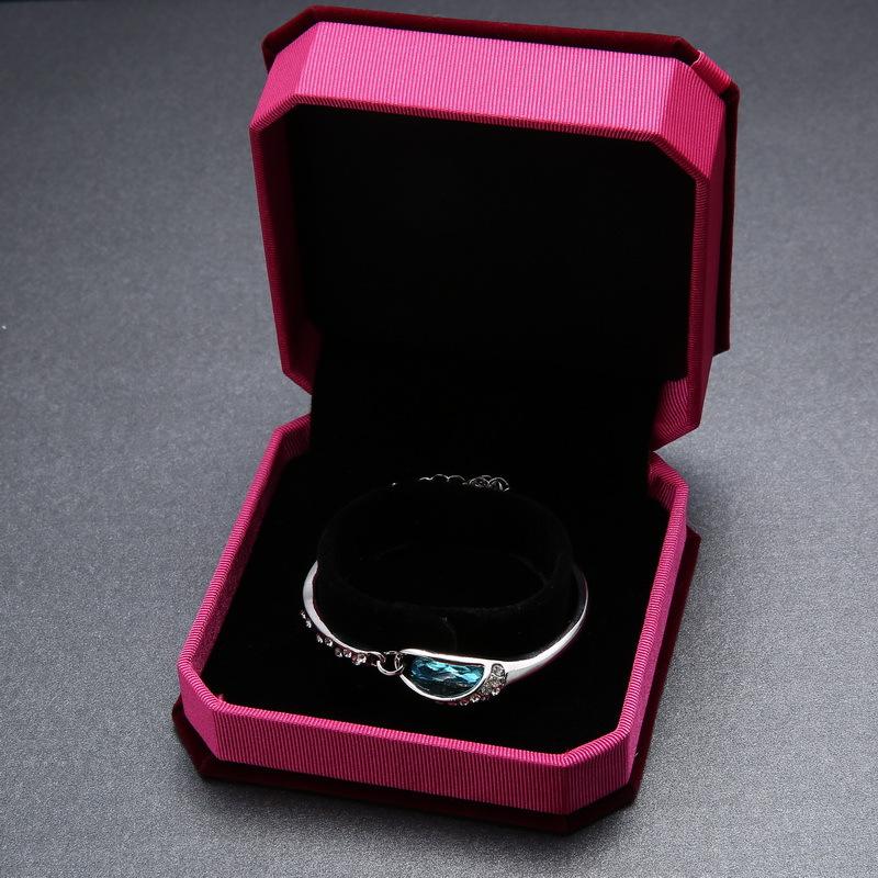 Jewelry Display Gift Box For Bracelet High Quality Fabric Bracelet Holder Rack Display Showcase Portable Box OEM/ODM Service(China (Mainland))