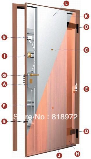 Italian Style Steel Wood Armored Security Door(China (Mainland))
