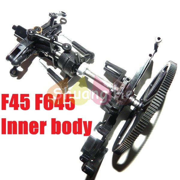 MJX F45 f645 inner body set accessories rc helicopter spare parts Free Shipping Shuang He(China (Mainland))