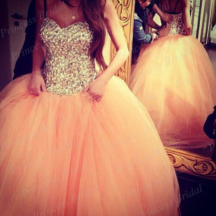 Free Shipping Lebanese Style Puffy Sweetheart Floor Length Long Tulle Ball Gown Evening Dresses With Crystals BK1702(China (Mainland))