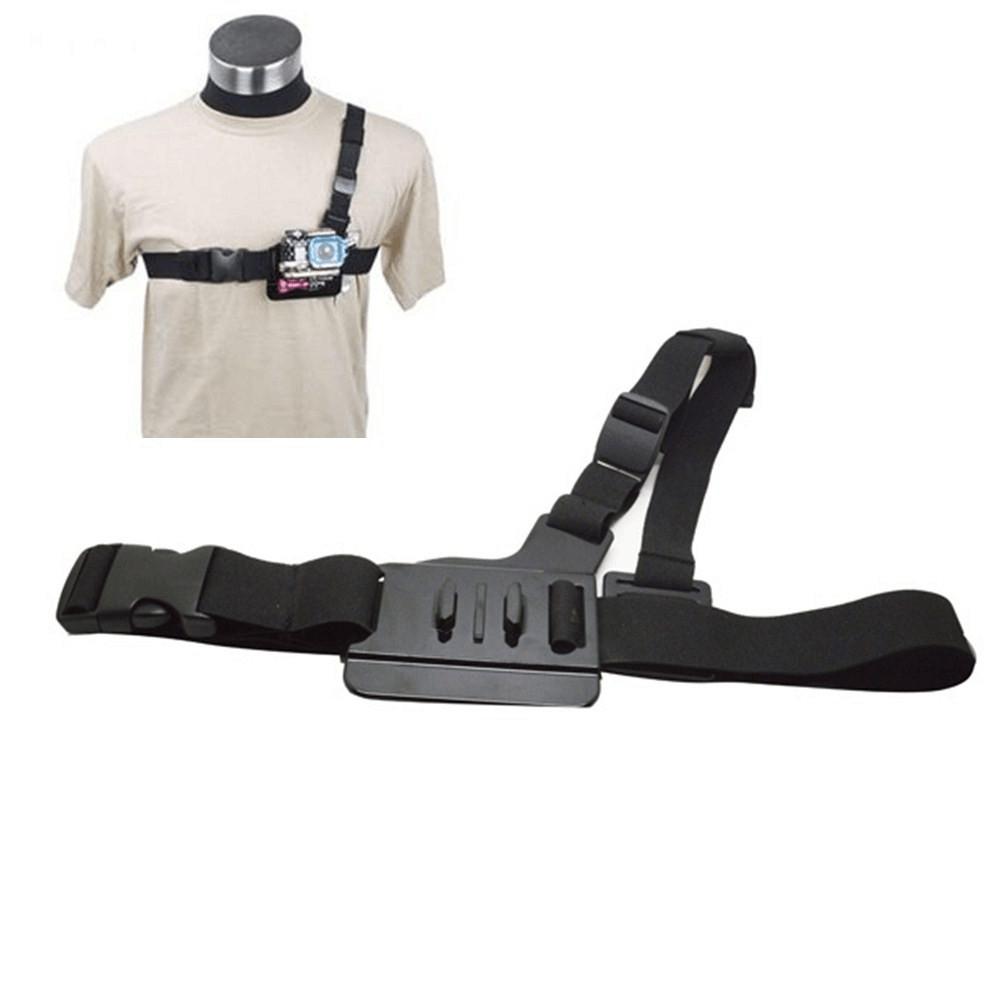 Light Weight 3 Points Simple Chest Belt for Gopro Hero 3+/3/2/1 Adjustable Elastic Body Strap Mount for SJ4000 SJ5000 SJ6000(China (Mainland))