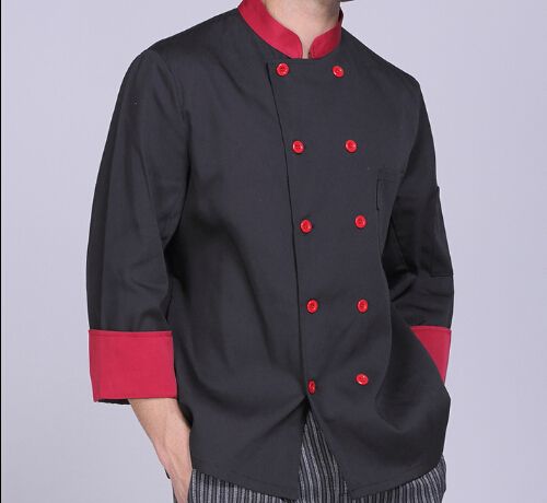 Men Chef Clothing Hotel Restaurant Pastry Chef Clothing Long Sleeve women Chef Uniforms Clothes(China (Mainland))