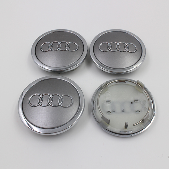 4Pcs/Lot 69mm Wheel Cover Center Hub Cap Car Logo Emblem for A4 A6 RS6 OEM 4B0 601 170 A 4B0601170A Gray Color Auto logo Badge(China (Mainland))