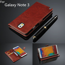 Buy fundas samsung Note 3 card holder cover case samsung galaxy note 3 N9000 leather phone case ultra thin wallet flip cover for $5.79 in AliExpress store