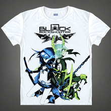 Black Rock Shooter T-shirts kawaii Japanese Anime t-shirt Manga Shirt Cute Cartoon Mato Kuroi Cosplay shirts 37166799598 tee 328