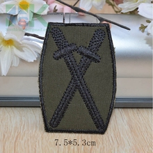 Buy SK DIY Patches Fashion 5pcs dark green Two sword army badge patches Iron On garment appliques embroidered patch in Camouflage for $15.53 in AliExpress store