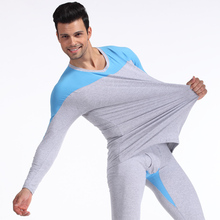 New Cockcon  100% cotton men's thermal underwear 100% cotton long johns long johns set  6 colors M L XL XXL(China (Mainland))