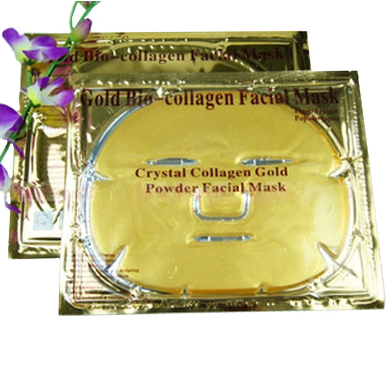 1Pcs Gold Collagen Skin Care Face Mask Anti Ageing Moisturizing Firming Oil-Control Whitening Face Care Crystal Mask(China (Mainland))