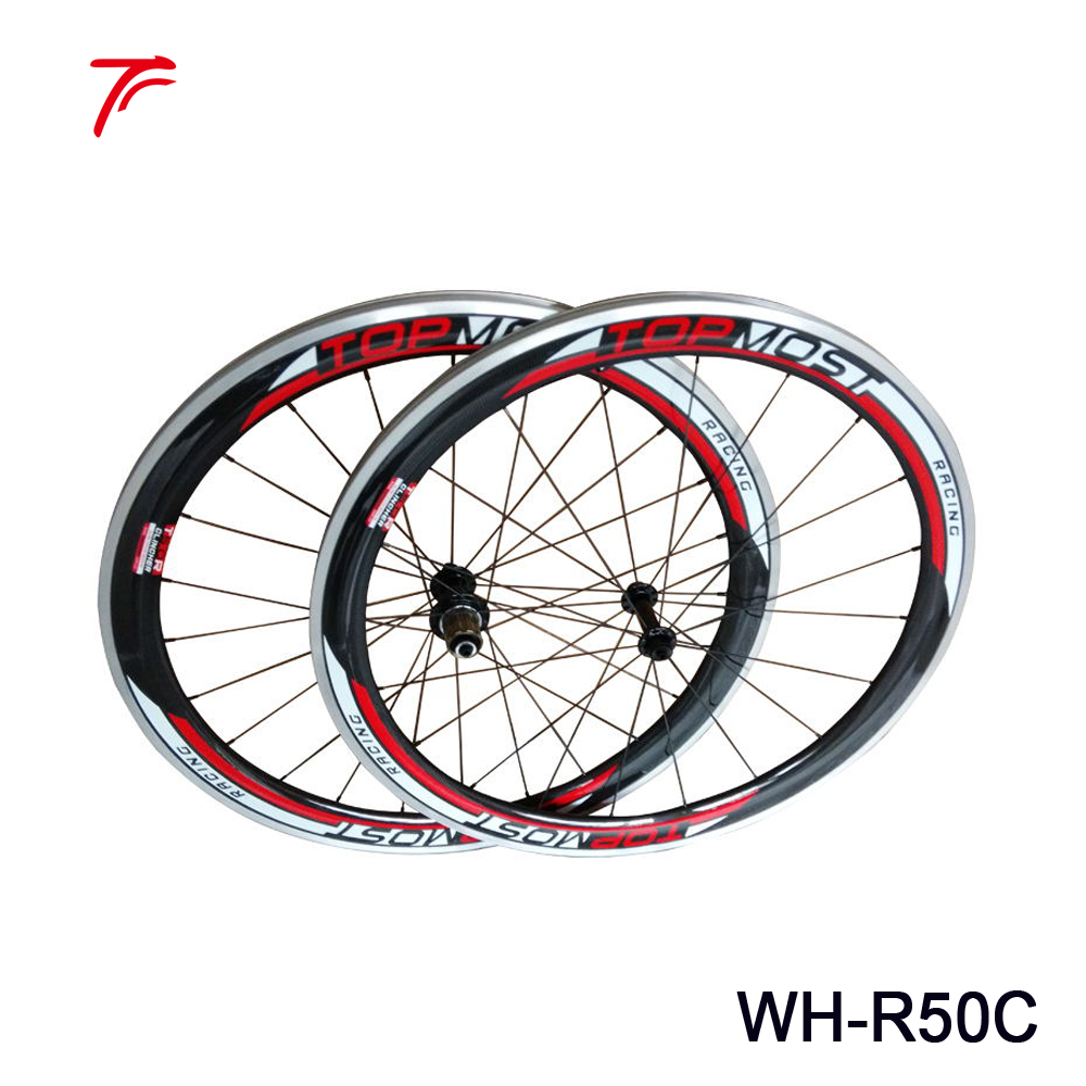 TOPMOST carbon aluminium wheels road bicycle 50mm clincher wheelset WH-R50C