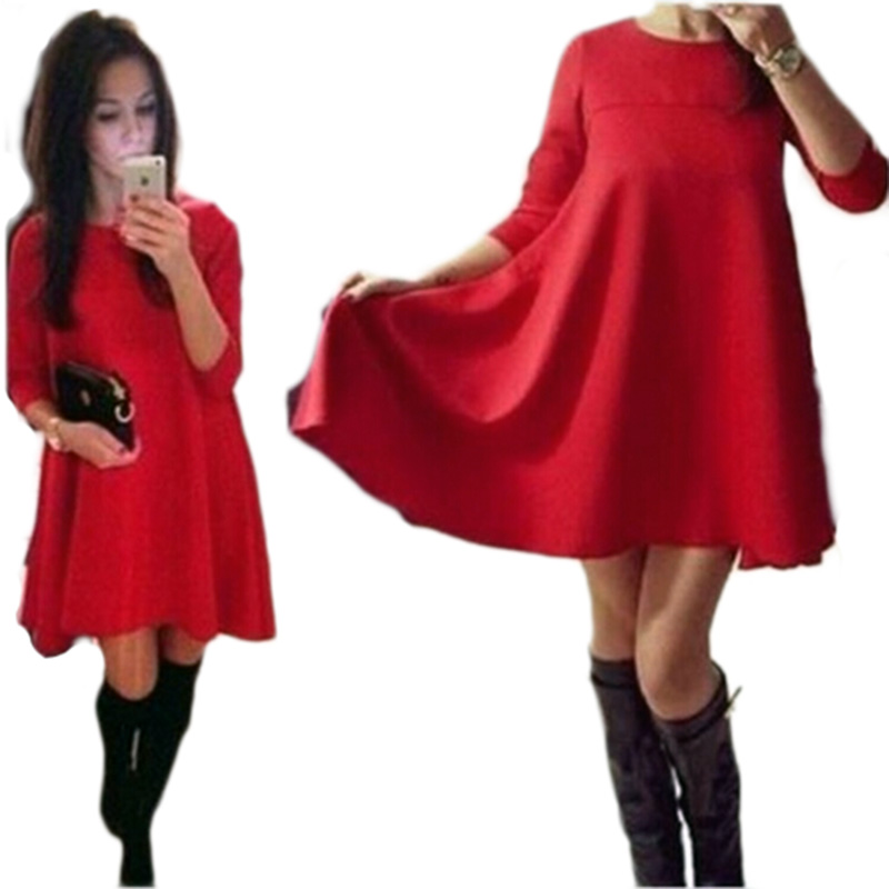 2016 new year bule color warm dresses casual