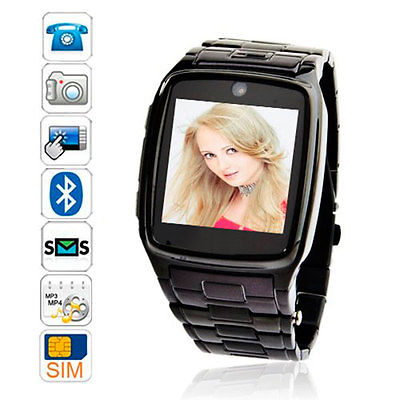 "TW810 Unlocked Smartwatch 1.6"" Touch Bluetooth GSM SIM Cell Phone Watch Camera DVR for Apple iPhone 5 6 6 plus Samsung Android(China (Mainland))"
