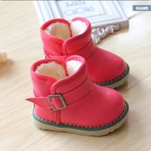2016 Brand Waterproof Children Boots Winter Baby Shoes Girls Cotton - Padded Shoes Ankle Boys Boots(China (Mainland))