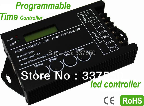 2015 Real Promotion Led Dimmer Hot!!! Tc420 20a Dc12v Programmable Usb Led Time Controller for Rgb&single Color Strip(China (Mainland))