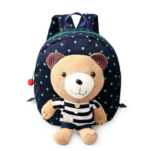 2016 backpack for children toddler backpack new Boys Girls Babies School Bags Animal Backpacks With Detachable Cartoon bear Doll(China (Mainland))