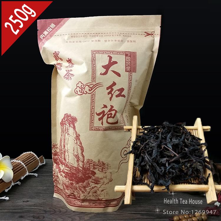 250g Tea Da Hong Pao, Big Red Robe, Zip Seal Bag Package, Wuyi Oolong DaHongPao, Shui Xian DaHong Pao Tea(China (Mainland))