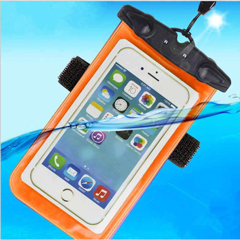 Universal Waterproof Phone Bag Case Cover Mobile Phone Pouch For Nokia Lumia 730 Underwater Swim Diving Sealed Bag For Nokia 735(China (Mainland))
