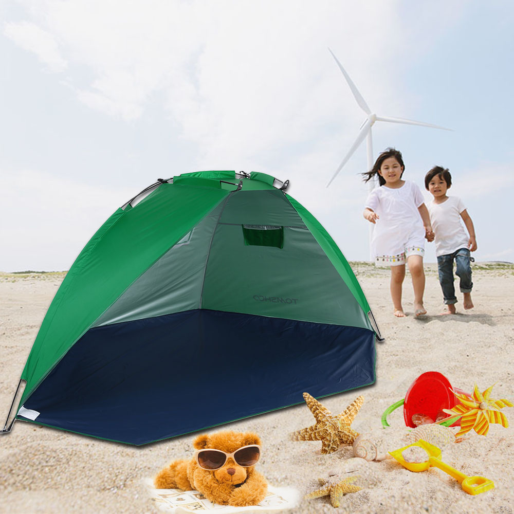 TOMSHOO 2 Persons Outdoor Beach Tents Shelters UV Protecting Summer Tent Sports Sunshade Tent for Fishing Picnic Beach Park(China (Mainland))