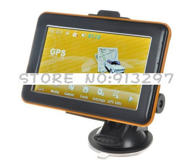 "4.8"" LCD Windows CE 6.0 Core 533MHz GPS Navigator with FM Transmitter + 2GB SD Card(China (Mainland))"